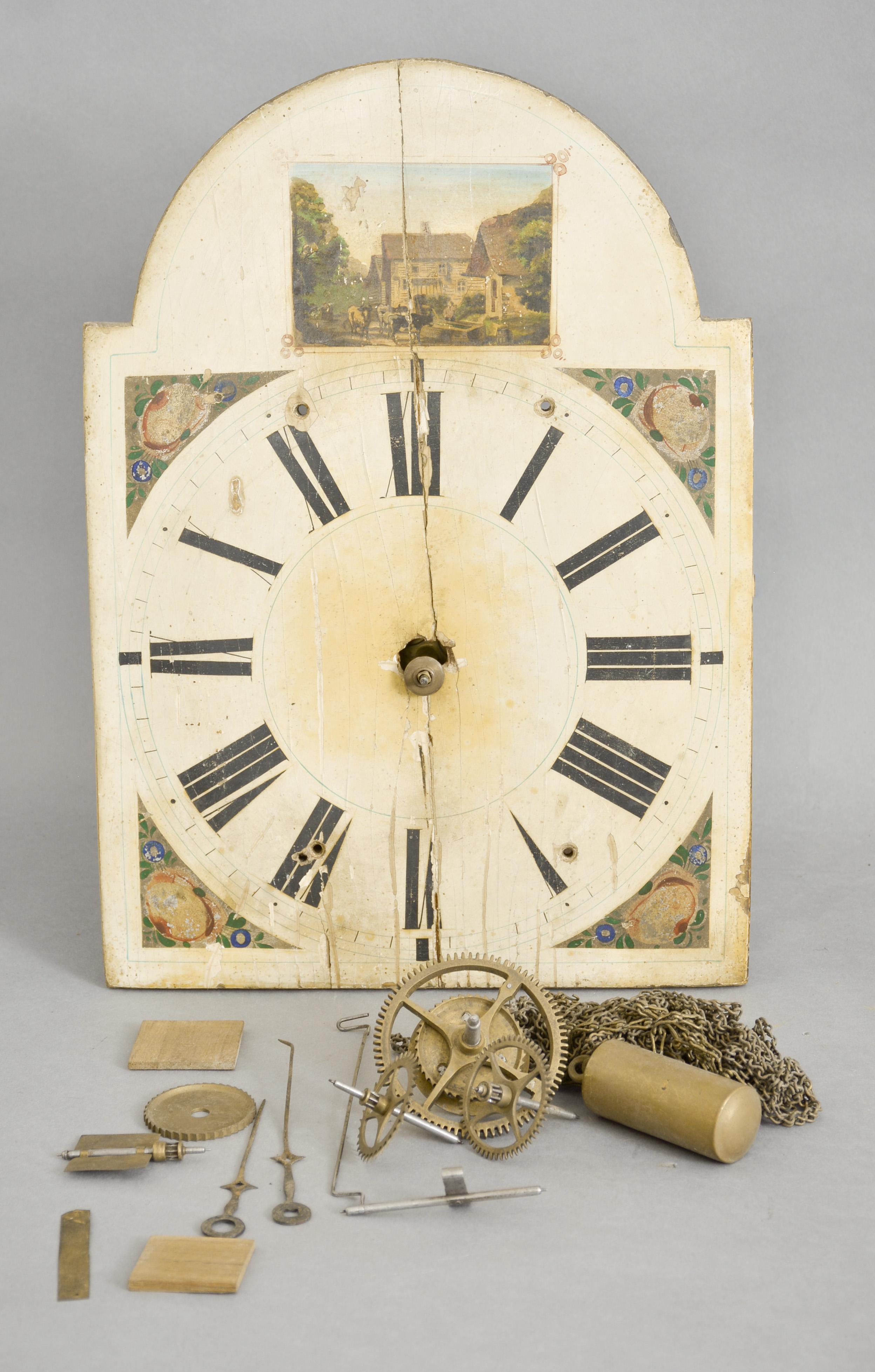 Morbier Clock With Star Hands German Freischwinger Clock